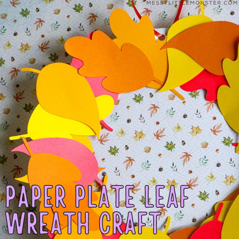 paper plate leaf wreath