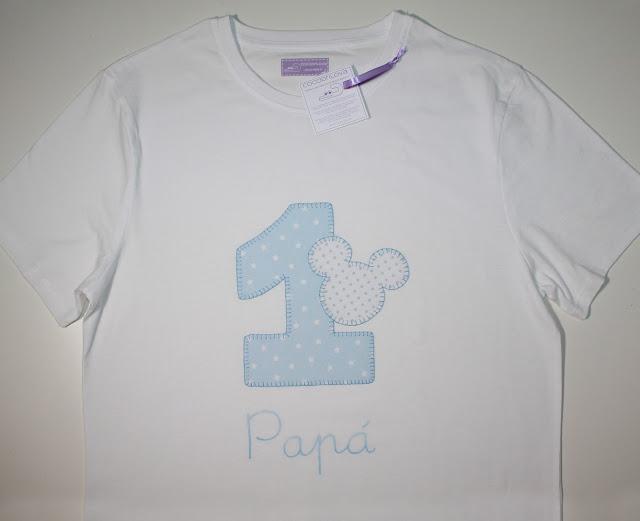 camiseta de cumpleaños 1 año papá