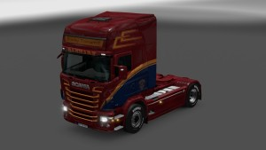 Scania RJL Danmark Transport Skin by FloppySRB