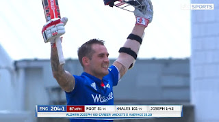 Alex Hales 110 - Joe Root 101 - West Indies vs England 3rd ODI 2017 Highlights
