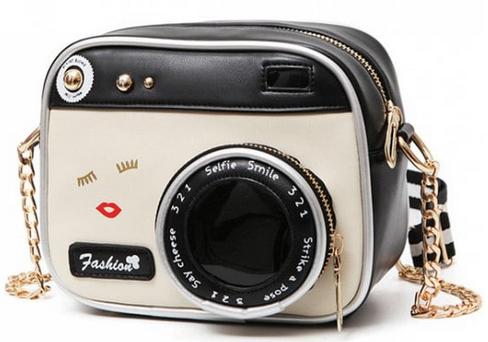 Novelty Camera Shaped Cross Body Bag - White And Black, Zaful