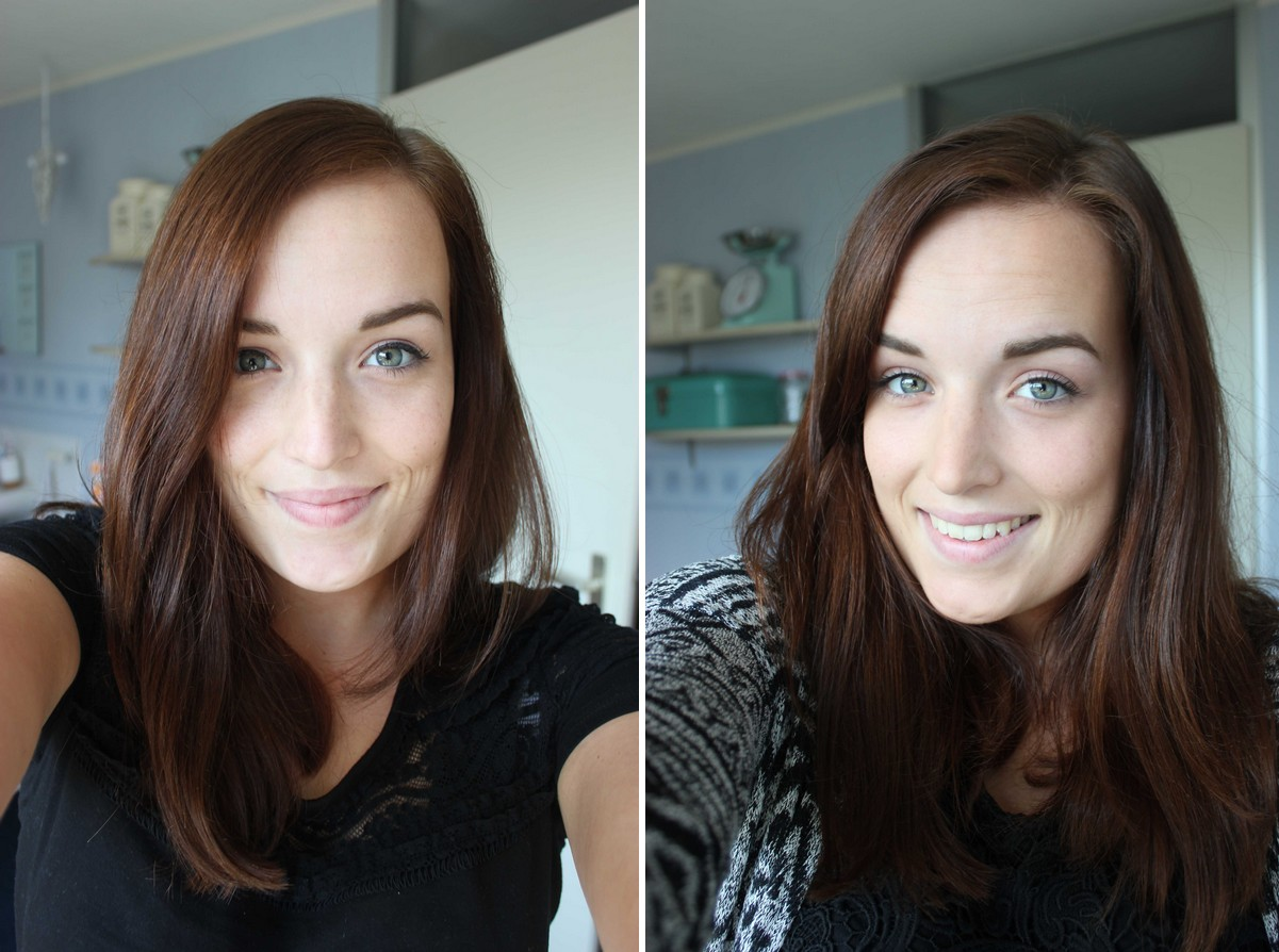 Before and After Kleurshampoo