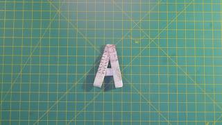 money origami alphabet letters gấp chữ cái A bằng tiền giấy
