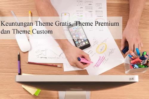 Keuntungan Theme Gratis, Theme Premium, dan Theme Custom