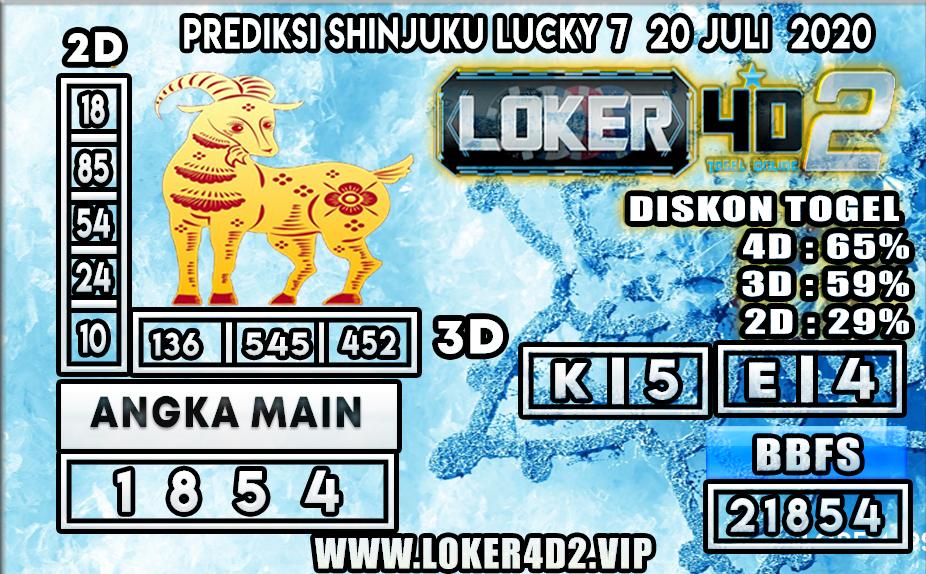 PREDIKSI TOGEL LOKER4D2 SHINJUKU LUCKY 7 20 JULI 2020