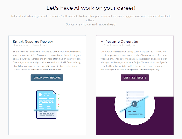 skillroads review ai career service that helps you land a dream job