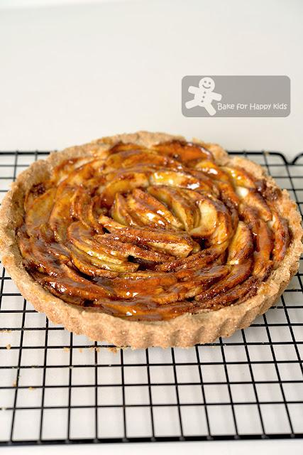 fuss free vegan apple tart