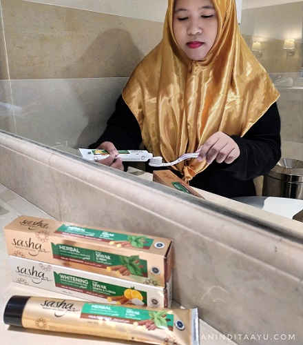 hijrah dan istiqomah dengan pasta gigi halal sasha
