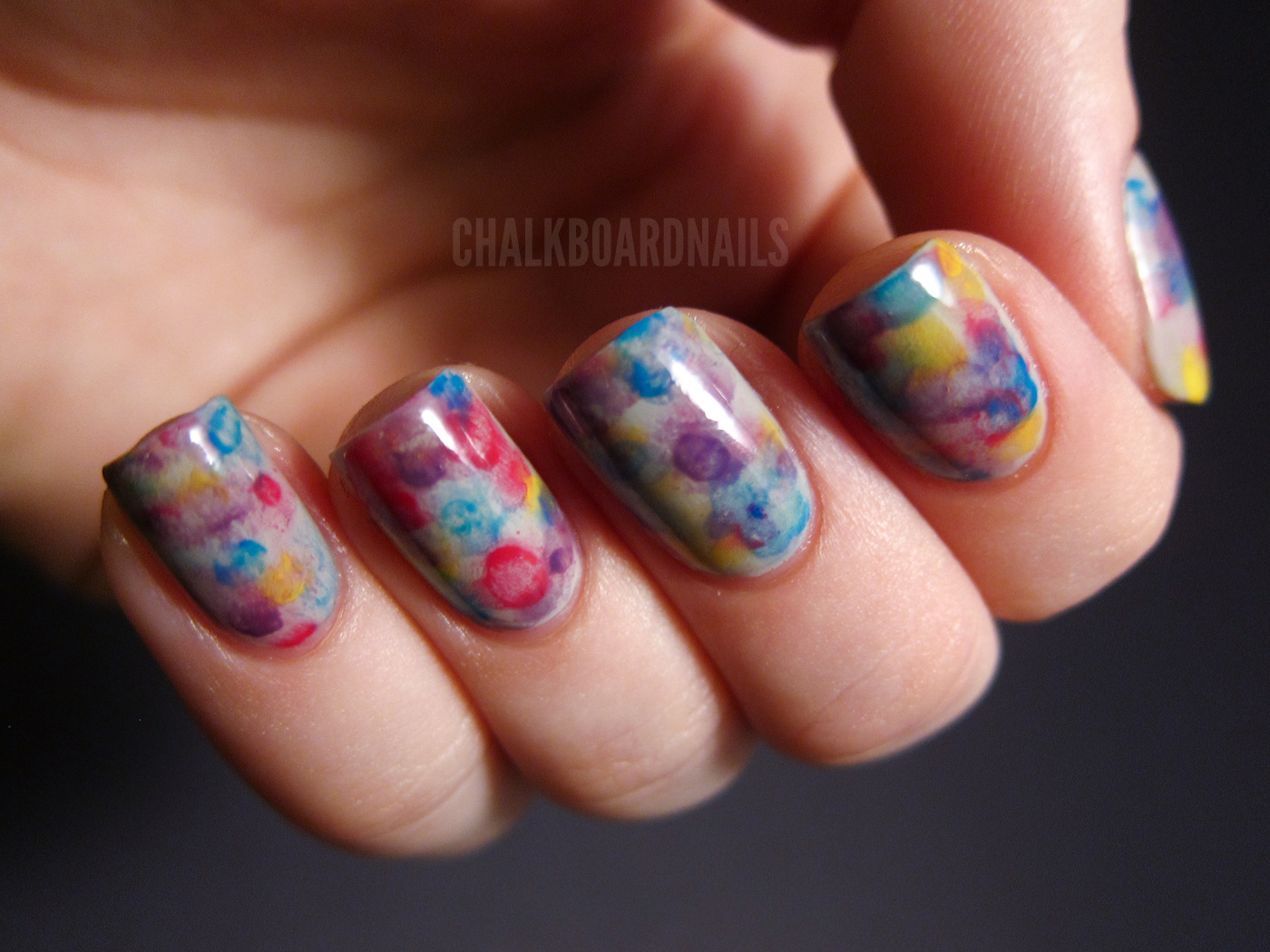 watercolor nails! - aboutwomanbeauty