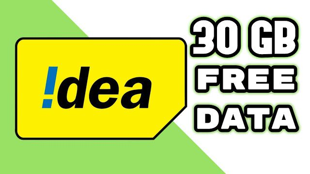 Idea Free Data Loot- Free 30 GB 4G Internet