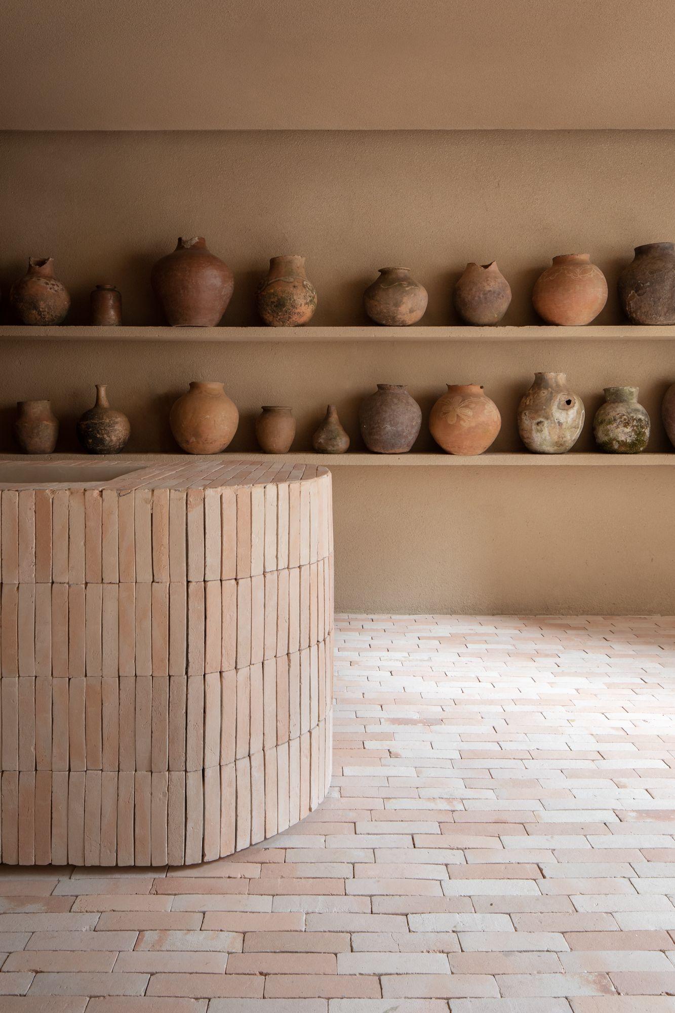 ilaria fatone inspirations une pièce épurée en briques naturelles