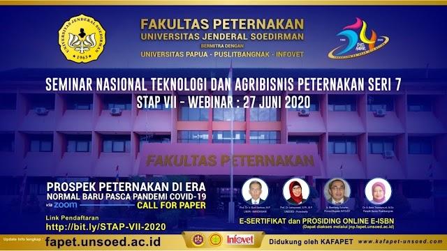 Optimisme Industri Peternakan pasca Pandemik Covid-19: Seminar Nasional Teknologi dan Agribisnis Peternakan Seri 7