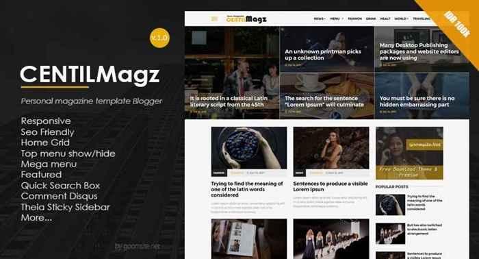 Kecentilanmas Responsive Blogger Template