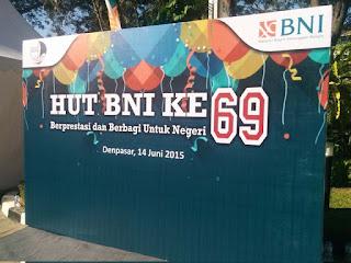 ulang tahun BNI ke 69 kantor BNI wilayah Denpasar