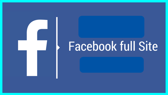Facebook full site login for mobile