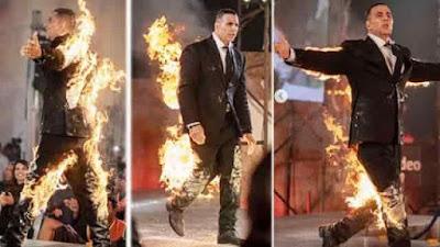 Akshay Kumar Fire Stunt Video Viral