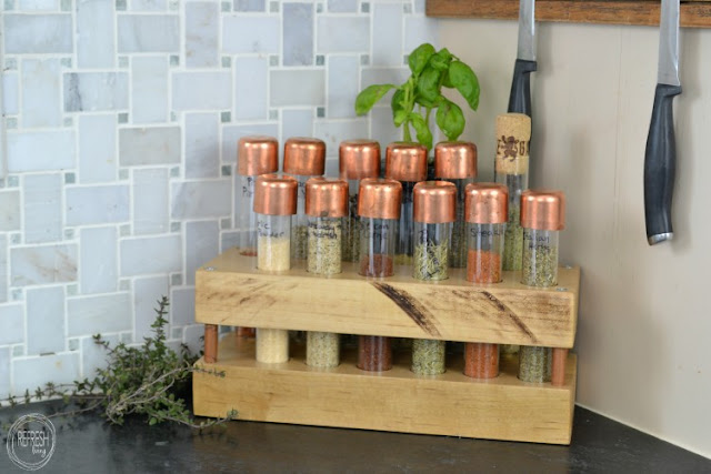 Test Tube Spice Rack DIY