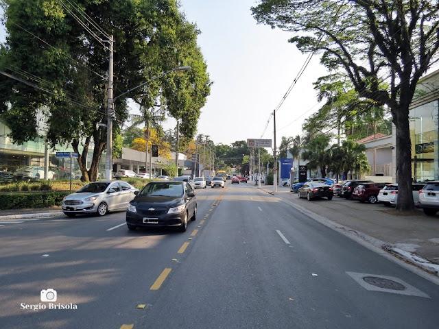 Vista de trecho da Rua Colômbia - Jardim América - São Paulo