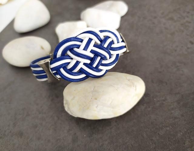 pulsera de cuero nudo marinero