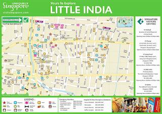 Mapa del Barrio Indio o Little India.