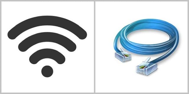 الفرق بين استخدام الانترنت عبر الكابل والواي فاي