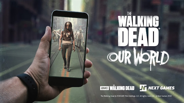 Werbeanzeige für Walking Dead: Our World