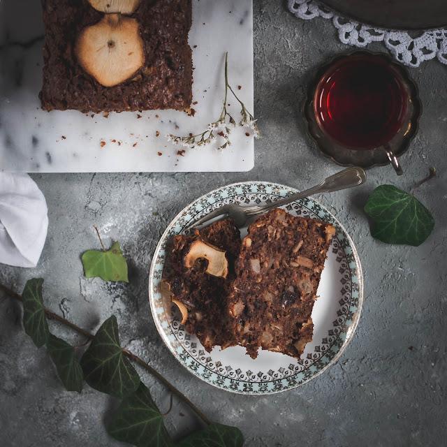 ciasto jabłkowe, ciasto z płatkami owsianymi, ciasto bakaliowe