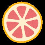 フルーツのマーク(ピンクグレープフルーツの断面)