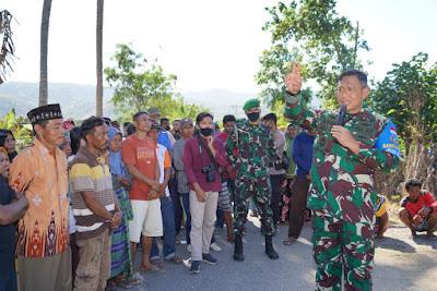 Cegah Pertikaian Warga Desa Waro Dan Tangga Baru Berkepanjangan, Ini Yang Dilakukan Danrem 162/WB