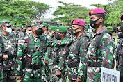 Danrem 174 Merauke Pimpin Apel Gelar Pasukan Pengamanan PON XX Di Distrik Tanah Miring