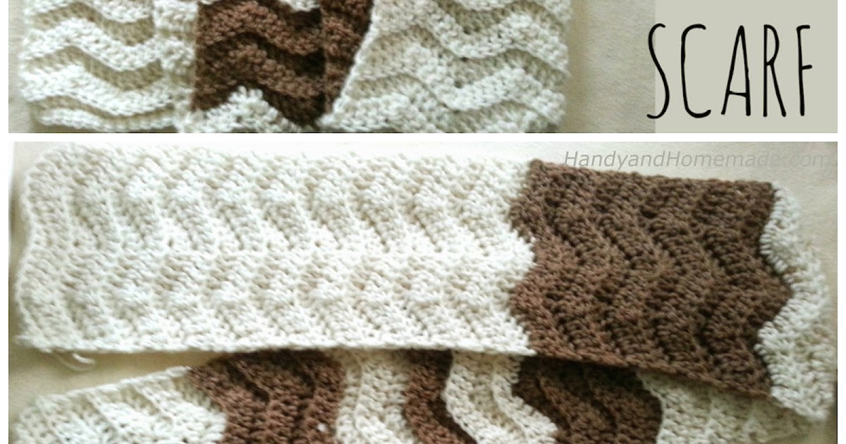2 Tone Chevron Scarf Crochet Pattern Handy Homemade