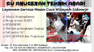Layanan Service Mesin Cuci Wilayah Sidoarjo