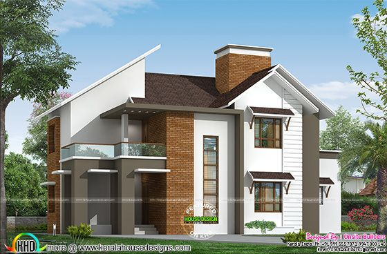 Modern mix roof house in 186 sq-m