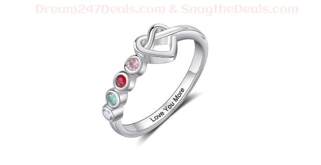 60% OFF Personalized 2/3/4 Birthstone Rings---Mother's Day Gift