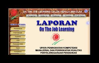 Contoh Laporan Penyusunan On The Job Learning ( OJL ) Tahun 2014