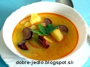 Bryndzová polievka s klobásou - recept