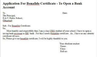 bonafide certificate in english