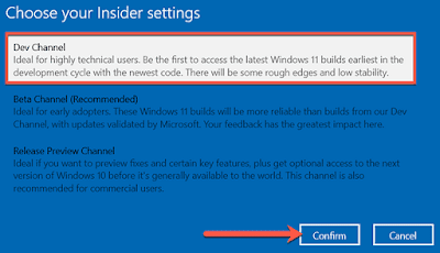 Windows Insider Programme Registration