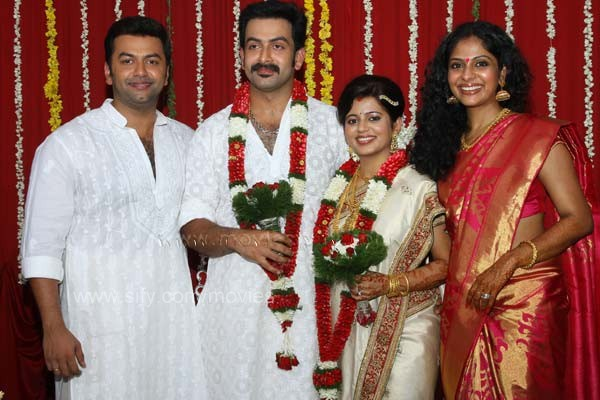 Prithviraj And Supriya Menon Wedding Photos Tamil Malayalam Film Actor Tied The Knot To Bbc On Monday April 25