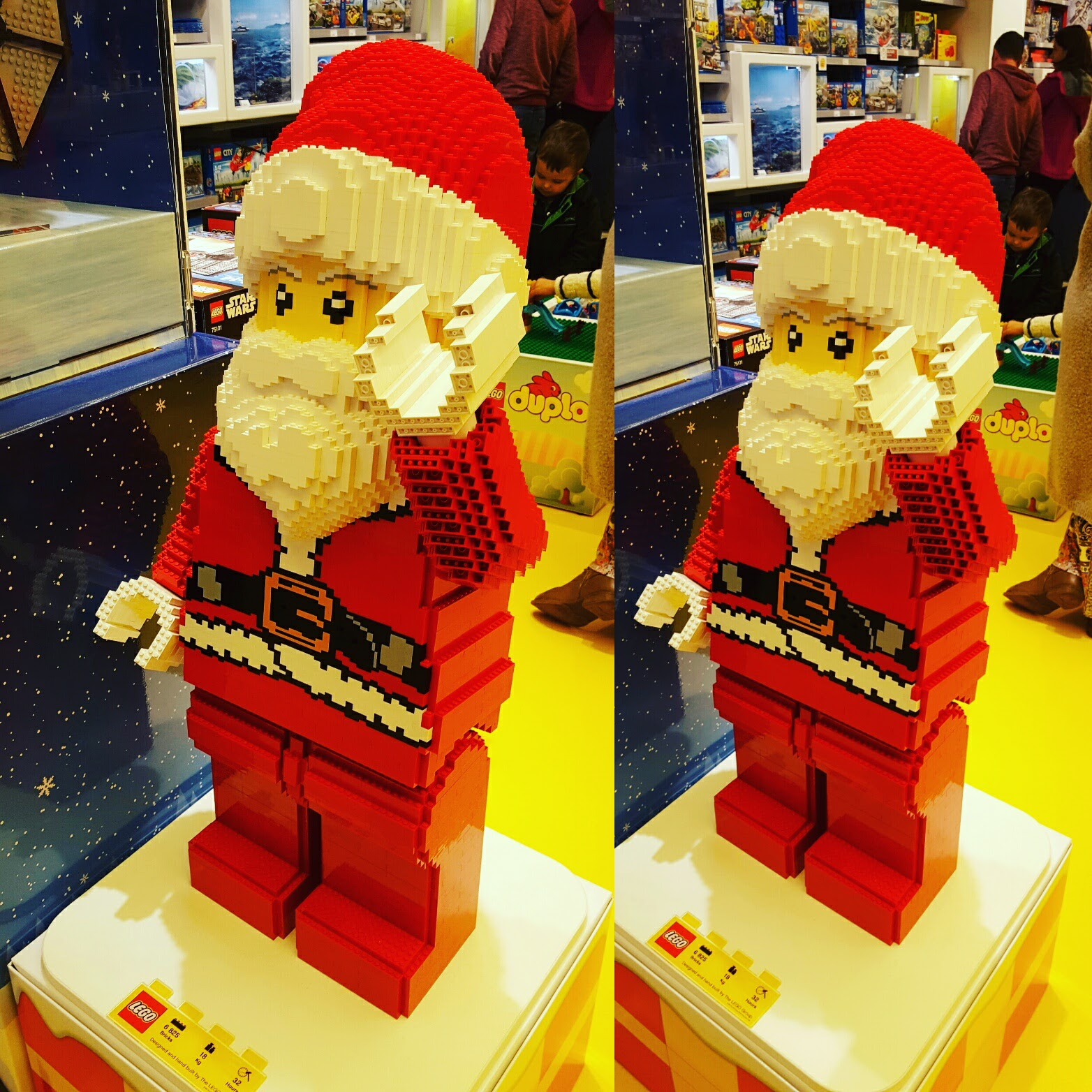 Santa made of little pieces of Lego