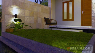 taman rumah minimalis 7x12 tampak depan