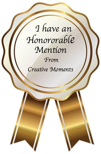 Honourable Mention at Creative Moments
