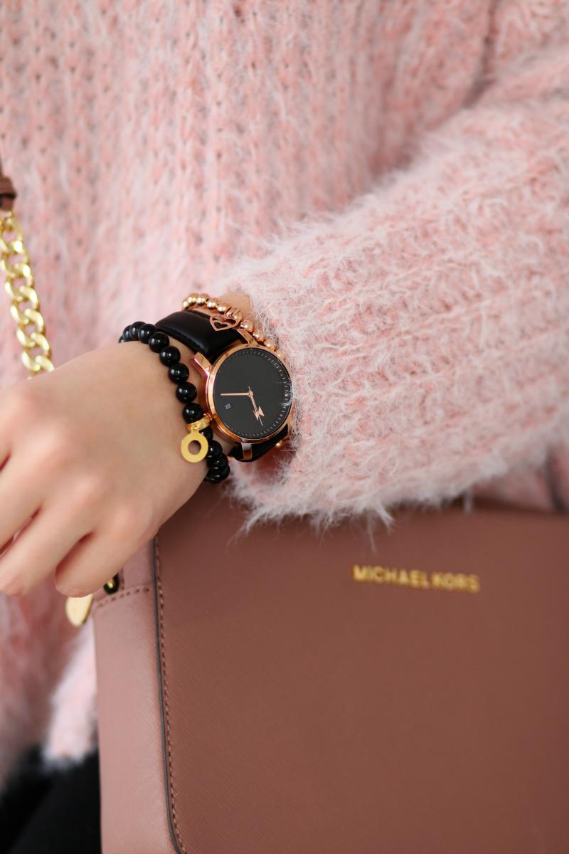mvmt watches rose gold black leather czarny zegarek czarna tarcza
