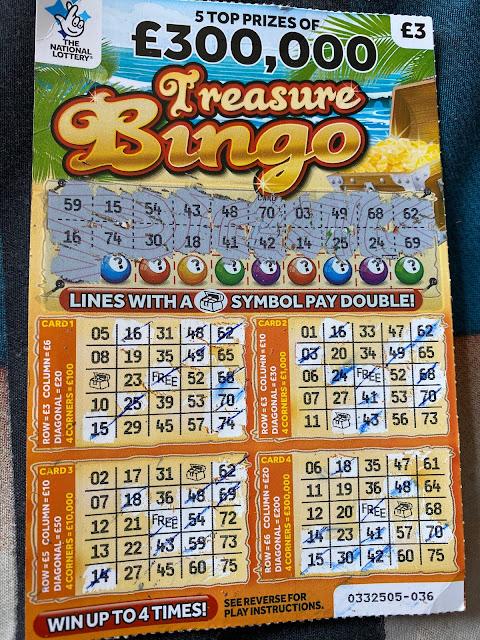 £3 Treasure Bingo Scratchcard
