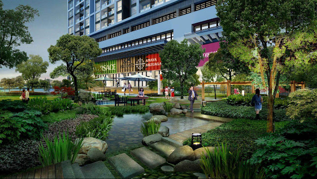 Không gian xanh chung cư Booyoung Vina