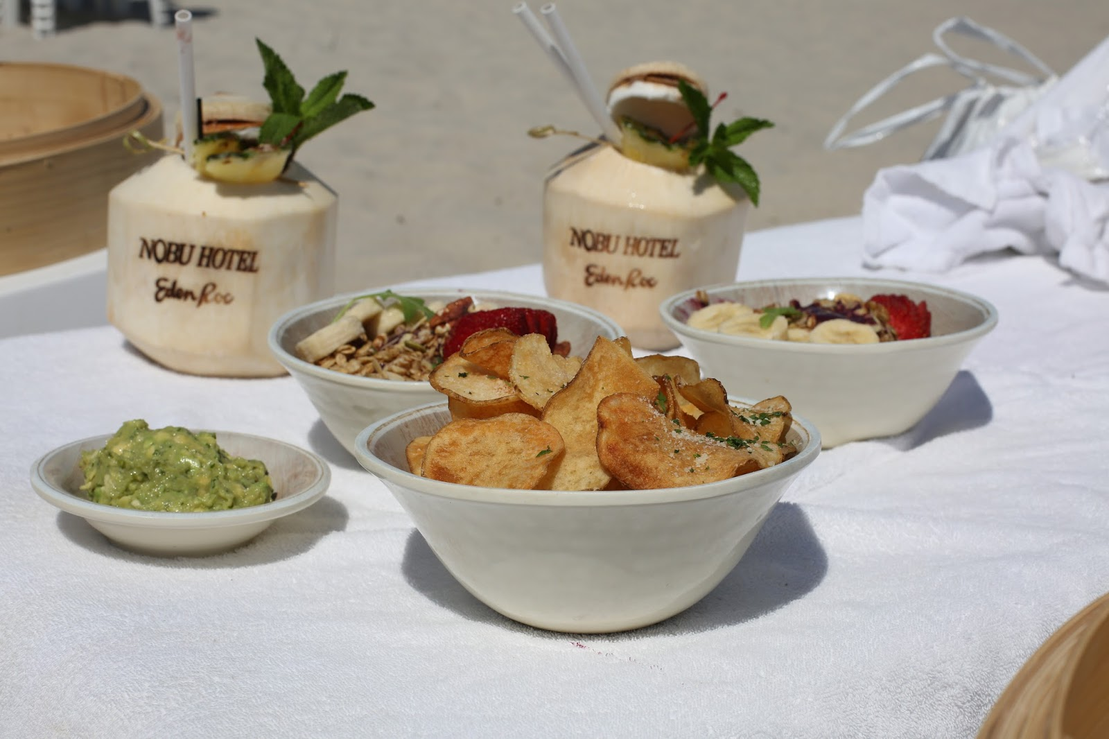 beach food Nobu hotel