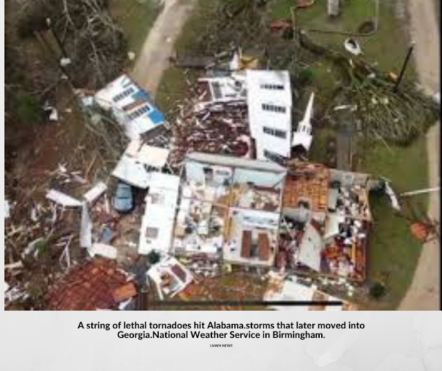 A string of lethal tornadoes hit through Alabama