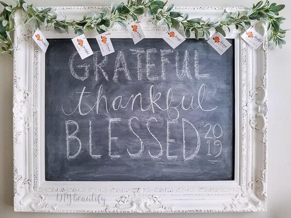 Thanksgiving chalkboard design
