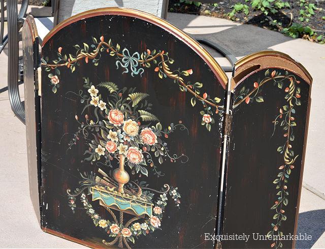 Ornate Wooden Fireplace Screen