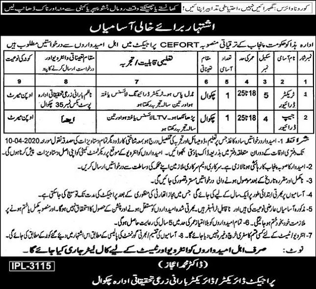 Jobs in Barani Agricultural Research Institute Chakwal